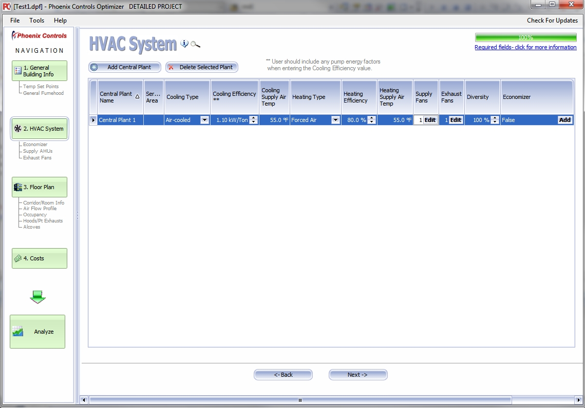 HVAC Selection and Energy Modeling Software